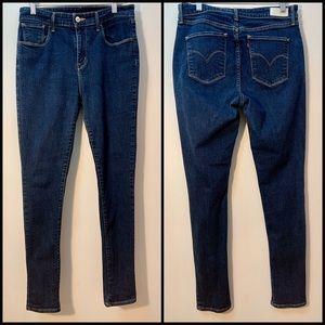 Levi's High Rise Skinny Blue Denim Jeans Size 30
